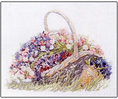 click here to view larger image of Basket with Flowers (chart)