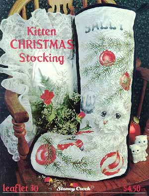 click here to view larger image of Kitten Christmas Stocking (chart)