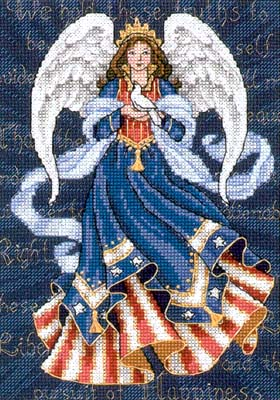 click here to view larger image of Patriotic Angel (counted cross stitch kit)