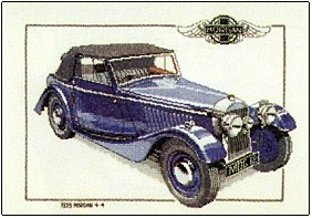 click here to view larger image of 1939 Morgan - Cars by Dave Shaw (counted cross stitch kit)