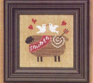 click here to view larger image of Valentine Ewe / Ewe Smitten (counted cross stitch kit)