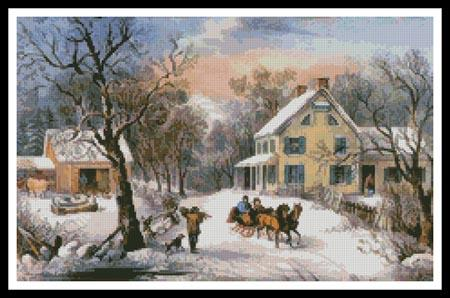 click here to view larger image of American Homestead in Winter (chart)