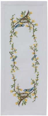 click here to view larger image of Birds Nest Table Runner (counted cross stitch kit)