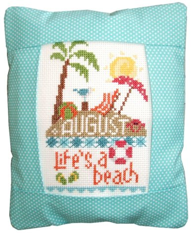click here to view larger image of August - Life's A Beach (counted cross stitch kit)