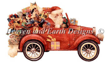 click here to view larger image of Santa In Car  (chart)