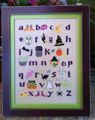 click here to view larger image of Haunted Alphabet (chart)