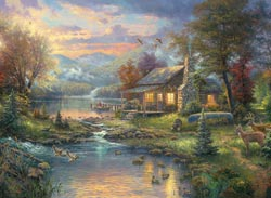click here to view larger image of Nature's Paradise - Thomas Kinkade  (counted cross stitch kit)