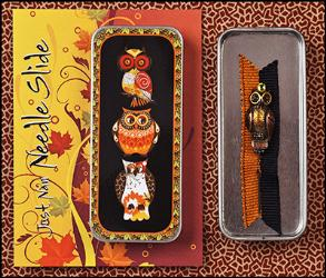 click here to view larger image of Autumn Hoots Needle Slide (accessory)