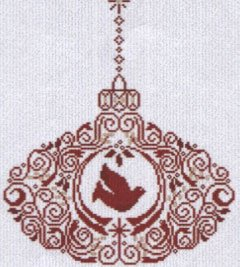 click here to view larger image of Dove Ornament (chart)