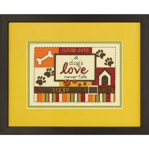 click here to view larger image of Dogs Love,A (counted cross stitch kit)