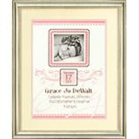 click here to view larger image of Elegant Flourish Birth Record (counted cross stitch kit)
