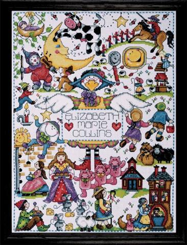click here to view larger image of Nursery Rhymes (counted cross stitch kit)