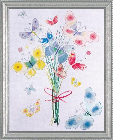 click here to view larger image of Butterfly Bunch (counted cross stitch kit)
