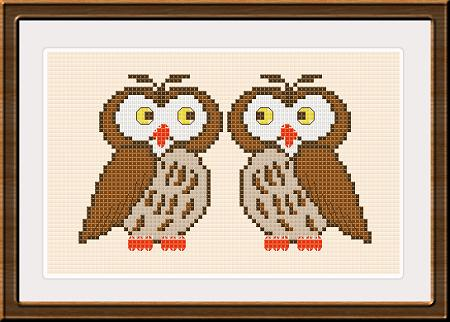 click here to view larger image of Couple of Owls (chart)