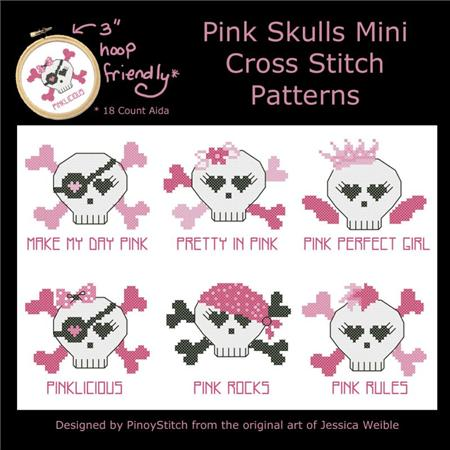 click here to view larger image of Pink Skulls Minis (chart)
