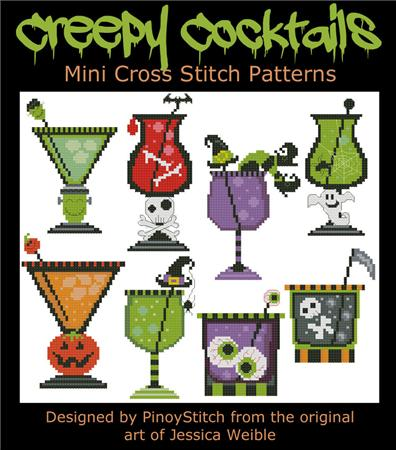 click here to view larger image of Halloween Creepy Cocktails (chart)
