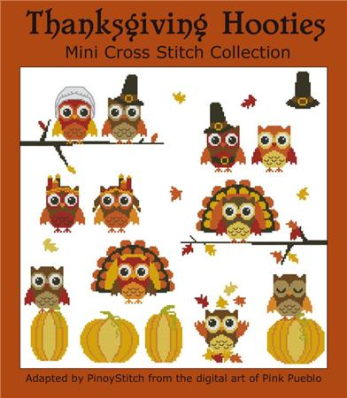 click here to view larger image of Hooties Thanksgiving Mini Collection (chart)