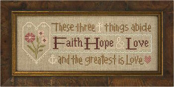 click here to view larger image of Faith, Hope, Love Inspiration Boxer Kit (chart with charms/buttons)