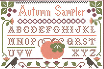 click here to view larger image of Autumn Sampler (w/silks) (chart)