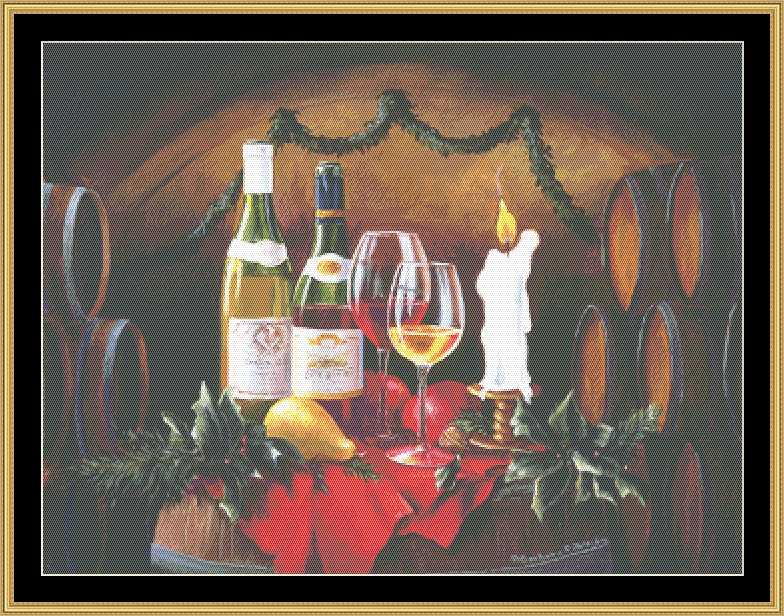click here to view larger image of Holly & Wine Still Life (chart)