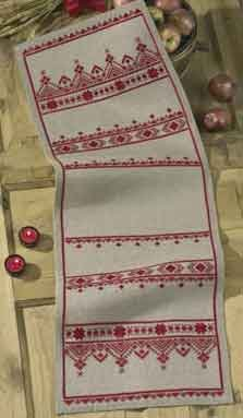 click here to view larger image of Rustic Tablerunner (counted cross stitch kit)