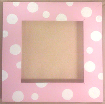 click here to view larger image of Frame - Spotty Dotty (Pink & White) (frame (ready made))