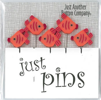 click here to view larger image of August Angel Pins (6 Orange Fish) (chart)