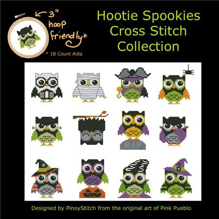 click here to view larger image of Hootie Spookies Mini Collection (chart)