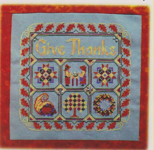 click here to view larger image of Thanksgiving Quilt (chart with charms/buttons)