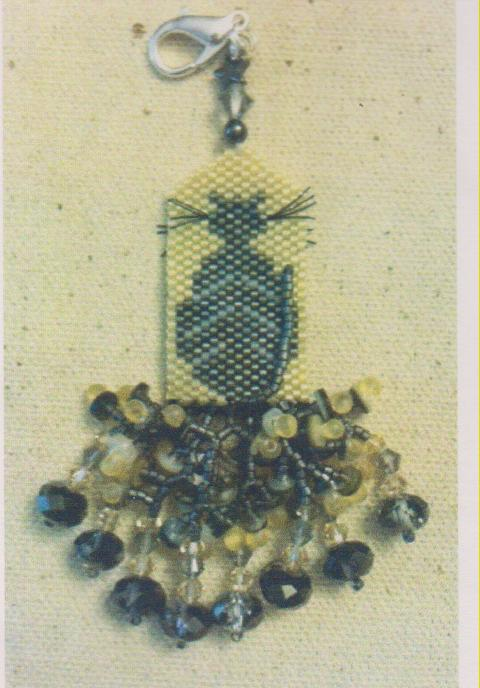 click here to view larger image of Macabre Madness Fob (bead kit)