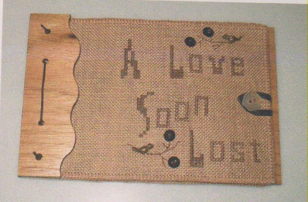 click here to view larger image of Love Soon Lost Poem Book (counted cross stitch kit)