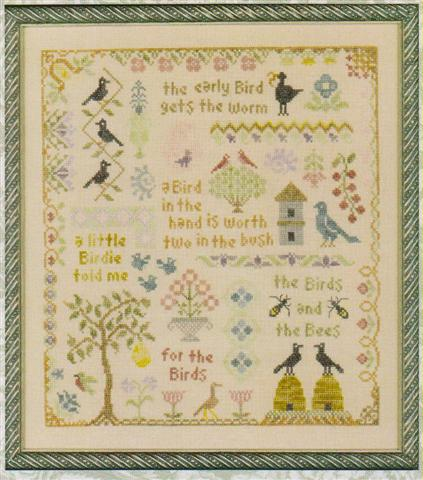 click here to view larger image of Antique Bird Sampler (chart)