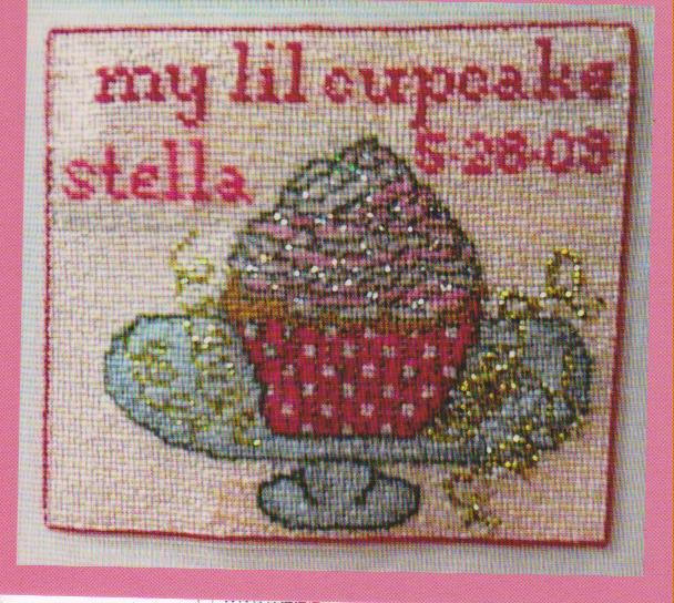 click here to view larger image of My Lil Cupcake- Girl (chart)