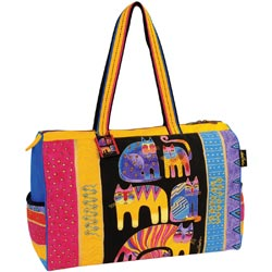 click here to view larger image of Fantastic Feline Totem - Travel Bag W/Zipper Top  (accessory)