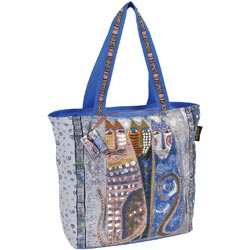click here to view larger image of Autumn Felines - Oversized Tote W/Zipper Top (accessory)
