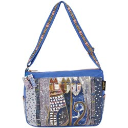 click here to view larger image of Autumn Felines - Medium Tote W/Zipper Top  (accessory)