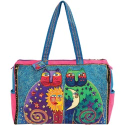 click here to view larger image of Celestial Felines - Travel Bag W/Zipper Top  (accessory)