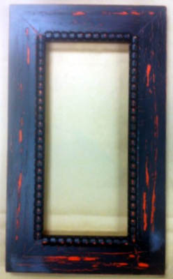 click here to view larger image of Frame - Meg 5x11 Black Over Orange (frame (ready made))