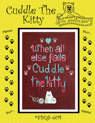 click here to view larger image of Cuddle The Kitty (includes button) (chart with charms/buttons)