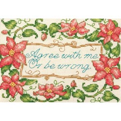 click here to view larger image of Agree With Me (counted cross stitch kit)