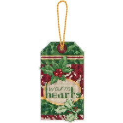 click here to view larger image of Susan Winget  Warm Hearts Ornament (counted cross stitch kit)