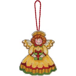 click here to view larger image of Susan Winget  Angel Ornament (counted cross stitch kit)