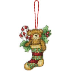 click here to view larger image of Susan Winget  Bear Ornament (counted cross stitch kit)