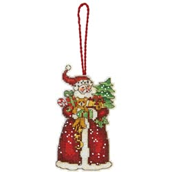 click here to view larger image of Susan Winget  Santa Ornament (counted cross stitch kit)