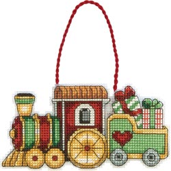 click here to view larger image of Susan Winget Train Ornament (counted cross stitch kit)