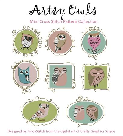 click here to view larger image of Artsy Owls (chart)