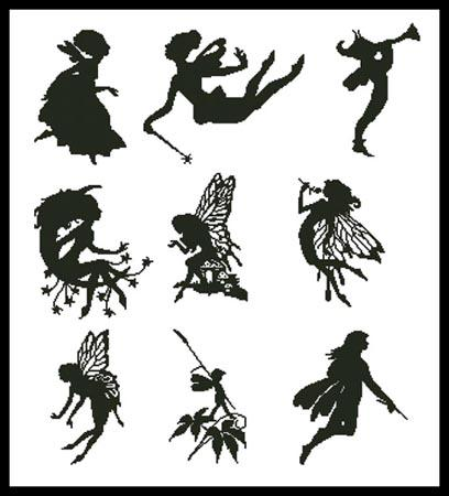 click here to view larger image of Little Fairy Silhouettes (chart)