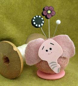 click here to view larger image of Ellie Elephant - Button Buddies (pinkeep)