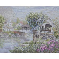 click here to view larger image of Covered Bridge, The (counted cross stitch kit)