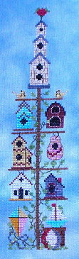 click here to view larger image of Birdhouse Pole Summer (chart)